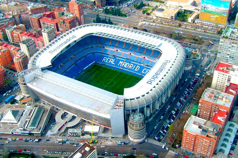 Стадион Сантьяго Бернабеу в Испании