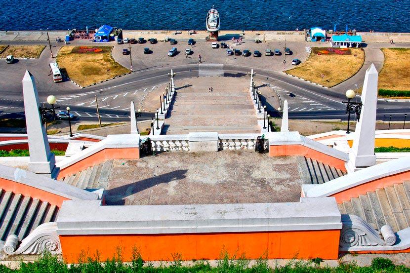 Чкаловская лестница в Нижнем Новгороде