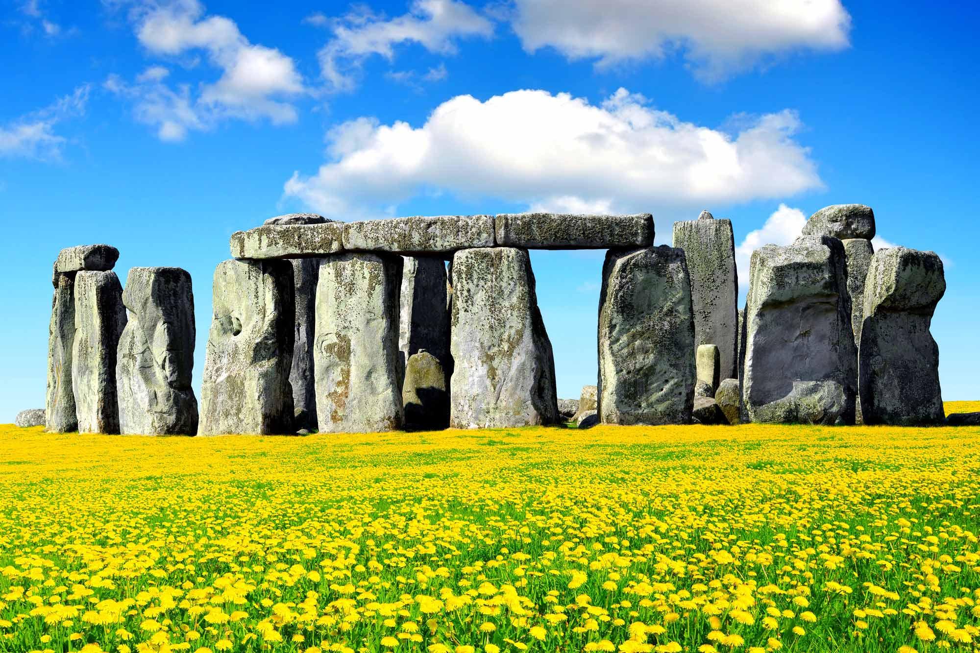 Famous Rock Group, Stonehenge, Wiltshire, England  № 715571  скачать