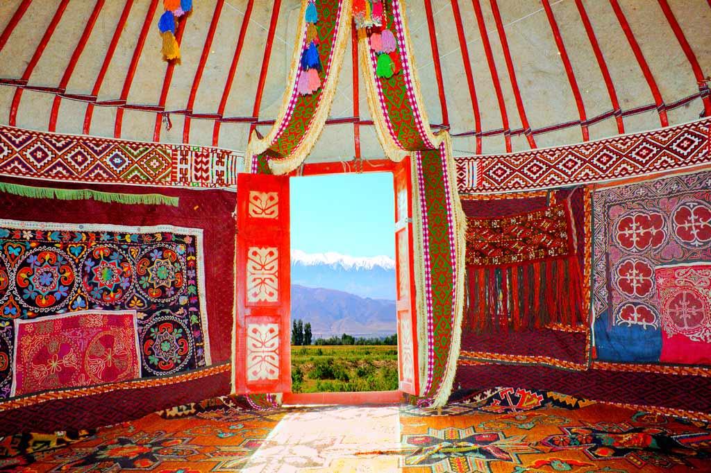 Казахская юрта Казахстан
