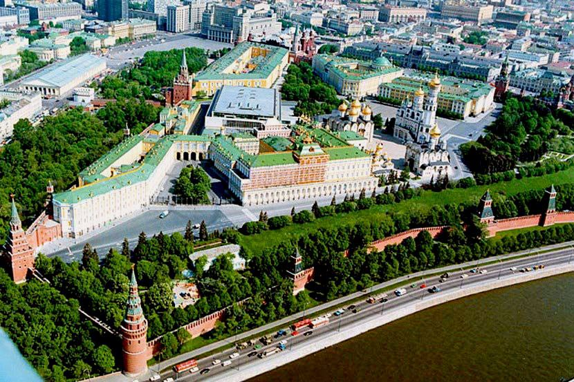 Кремль фото москва вид сверху