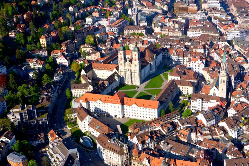 Монастырь Святого Галла в Швейцарии